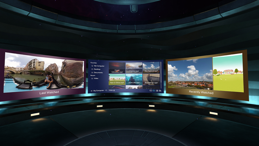 Enjoy your own virtual home theater with Vive Video