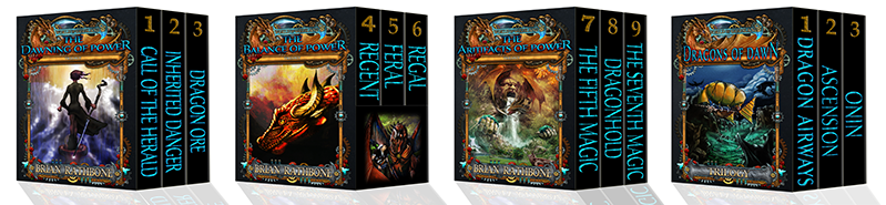 Books Series 1-9 Dragon Ore, Inherited Danger, Call of the Herald, Regal, Feral, Regent, The Seventh Magic, Dragonhold, The Fifth Magic