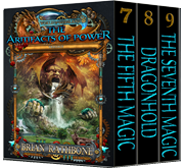 Godsland Series, Trilogy 3 Books 7-9, Artifacts of Power,  The Seventh Magic, Dragon Hold, The Fifth Magic