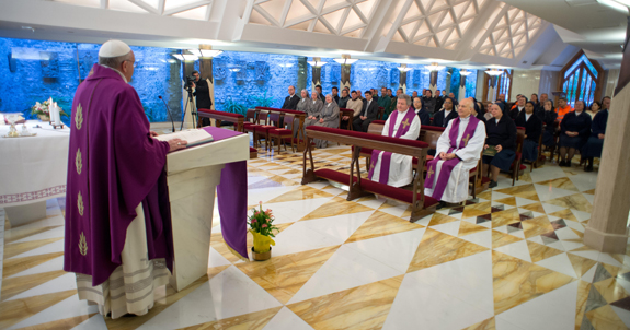 Why we aren't seeing the full texts of Francis' morning homilies