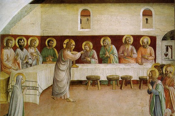 'Communion of the Apostles' by Fra Angelico (1440-41).