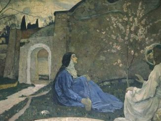 'Christ with Martha and Mary' by Mikhail Nesterov (1911).