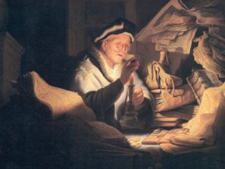 'The Rich Man from the Parable' by Rembrandt (1627).