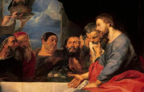 Detail from 'Christ at Simon the Pharisee' by Peter Paul Rubens (1618-20).