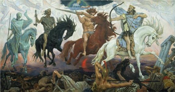 'Four Horsemen of the Apocalypse' by Viktor Vasnetsov (1887)