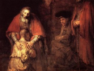 Detail from 'The Return of the Prodigal Son' by Rembrandt (1669).