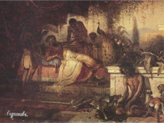 'A Rich Man and Lazarus' by Vasily Surikov (1873).