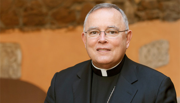 Archbishop Charles J. Chaput of Philadelphia is pictured following an interview in Rome in October 2012. (CNS photo/Paul Haring)
