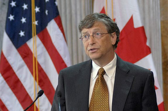 Bill Gates at the Treasury Department in April 2010. The Bill and Melinda Gates Foundation has reportedly donated $150 million toward the financing of the controversial Common Core educational program. (Wikimedia Commons)