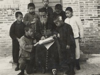 A rare photo of the Salesian bishop