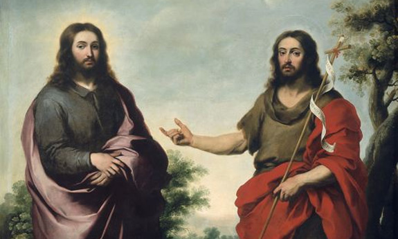 Detail from 'Saint John the Baptist Pointing to Christ' by Bartolome Esteban Murillo (1655)
