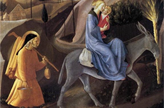 Detail of 'Flight Into Egypt' by Fra Angelico (1452)
