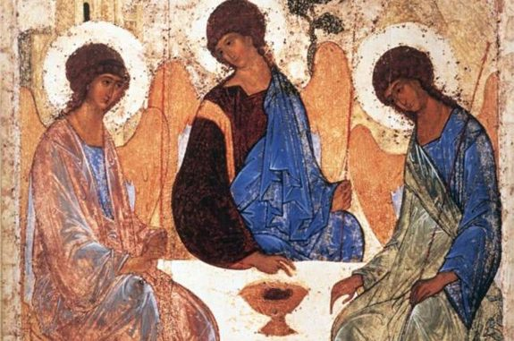 Detail from 'Trinity' by Andrei Rublev (c. 1410)