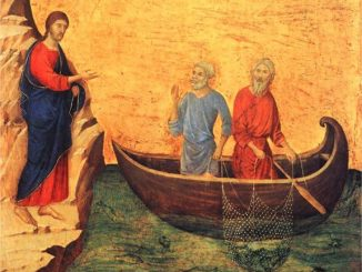 'The Calling of the Apostles Peter and Andrew' by Duccio (1311)