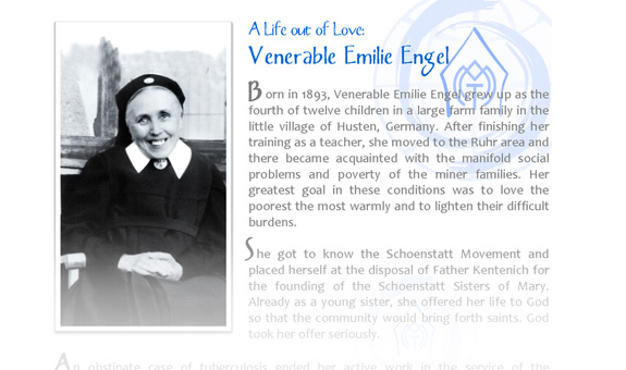 Heroic Virtue: Venerable Emilie Engel