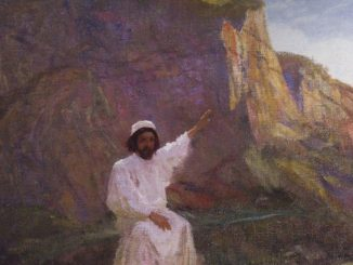 'Palestine. Sermon the Mount.' by Vasily Polenov (c. 1900; WikiPaintings.org)
