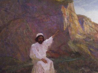 'Palestine. Sermon the Mount.' by Vasily Polenov (c. 1900; WikiPaintings.org)