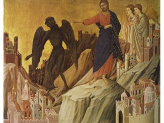 'The Temptation of Christ on the Mountain' by Duccio di Buoninsegna (ca. 1308-1311)