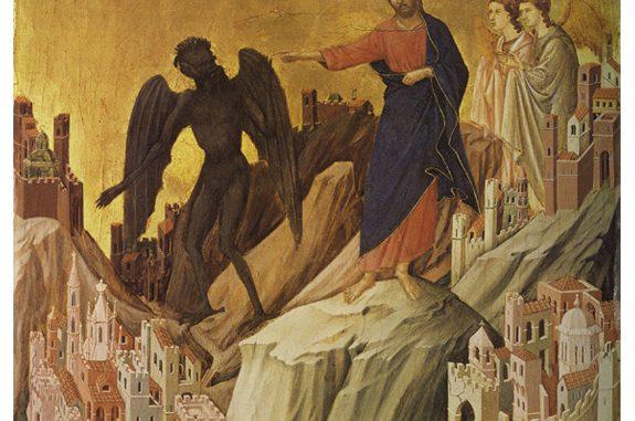 'The Temptation of Christ on the Mountain' by Duccio di Buoninsegna (ca. 1308-1311)