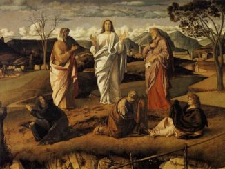 'The Transfiguration of Christ' by Giovanni Bellini (c. 1487)