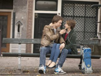 Ansel Elgort and Shailene Woodley star in a scene from the movie 'The Fault in Our Stars.'  (CNS photo/Fox)