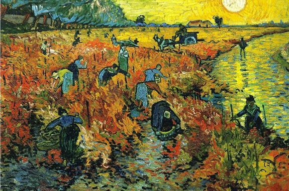 'Red Vineyards at Arles' (1888) by Vincent Van Gogh (www.wikiart.org)