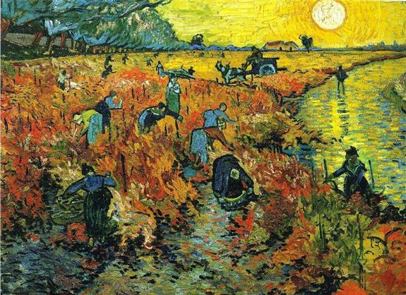 'Red Vineyards at Arles' (1888) by Vincent Van Gogh (www.wikiart.org)