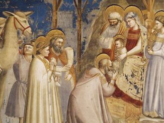 detail from 'Adoration of the Magi' (1304) by giotto di bondone [wikiart.org]