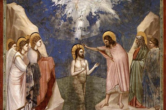 'The Baptism of Christ' (c. 1305) by Giotta [WikiArt.org]