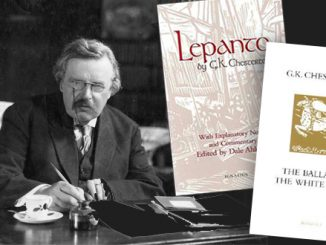 Gilbert Keith Chesterton (1874-1936) wrote hundreds of poems