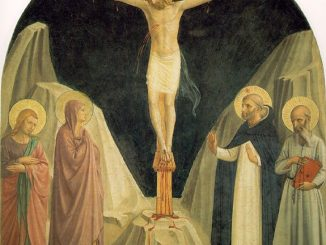 'Crucified Christ with Saint John the Evangelist' by Fra Angelico (1410-52) [WikiArt.org]