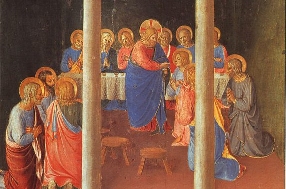 'Communion of the Apostles' (1451-52) by Fra Angelico [WikiArt.org]