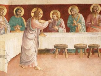 Detail from 'Institution of the Eucharist' (1441) by Fra Angelico (www.wikiart.org)