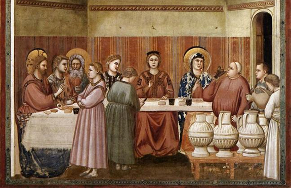 'Marriage at Cana' [c. 1304] by Giotto di Bondone (WikiArt.org)