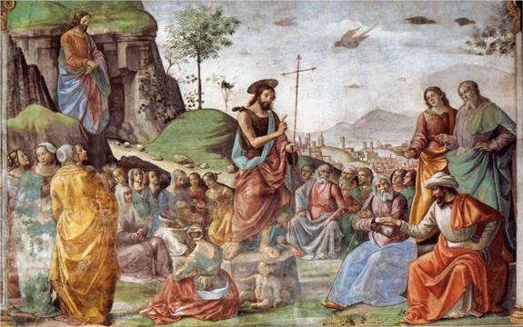 St  John the Baptist, prophet of Advent and preacher of