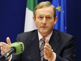 Ireland's Prime Minister Enda Kenny is pictured at a news conference following a meeting of European leaders in Brussels in June. (CNS photo/Reuters)