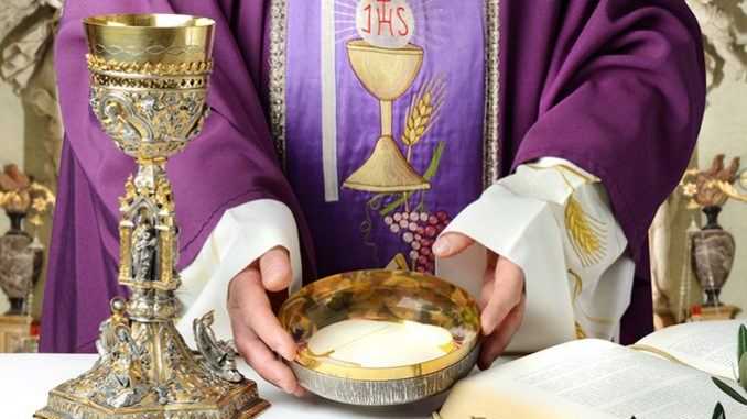 """eucharist mass cfox The key to all of this is the Sacrament of the Holy Eucharist, which J.R.R. Tolkien rightly calls, """"the one great thing to love on earth."""" At the Mass of the Lord's Supper on Holy Thursday, the Church commemorates the giving of this greatest of all gifts."""