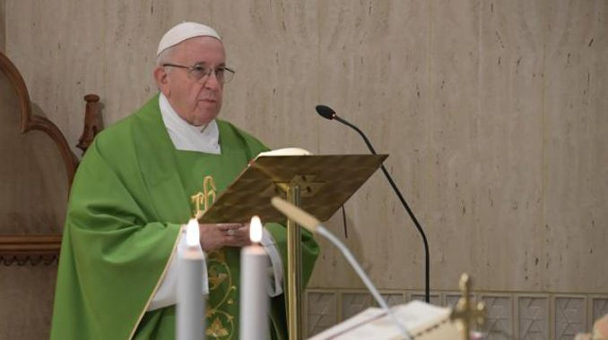 "Pope Francis: Bishops must pray to overcome ""the Great Accuser"