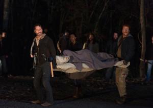 walking dead maggie on stretcher