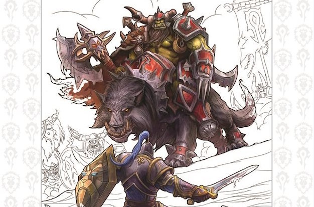 World Of Warcraft Coloring Book Cropped
