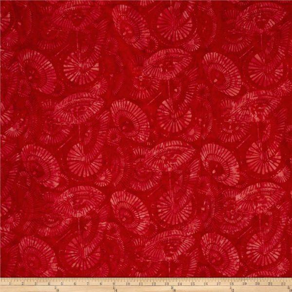 red batik fabric