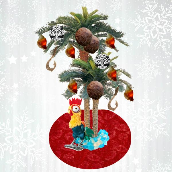 Stunning Moana Party Ideas - Paige's Party Ideas |Moana Themed Christmas Tree