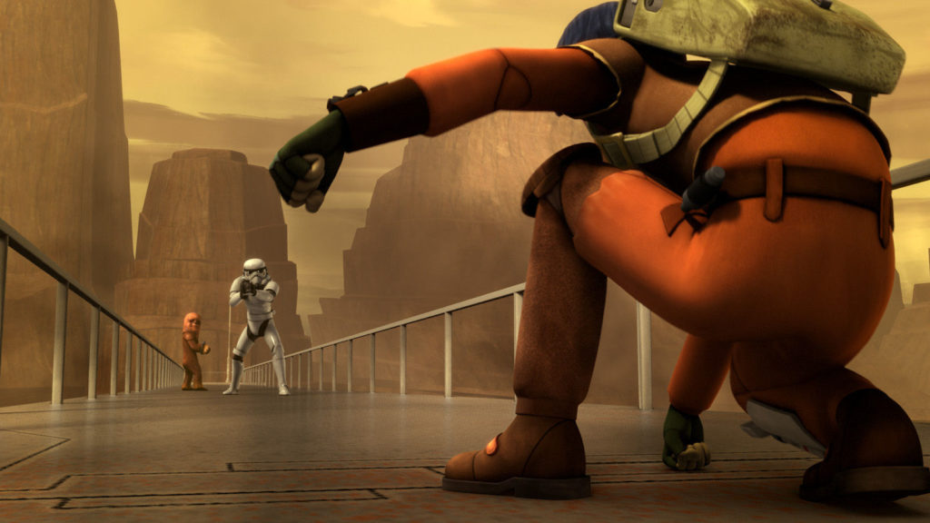 Rescuing the young Wookiee