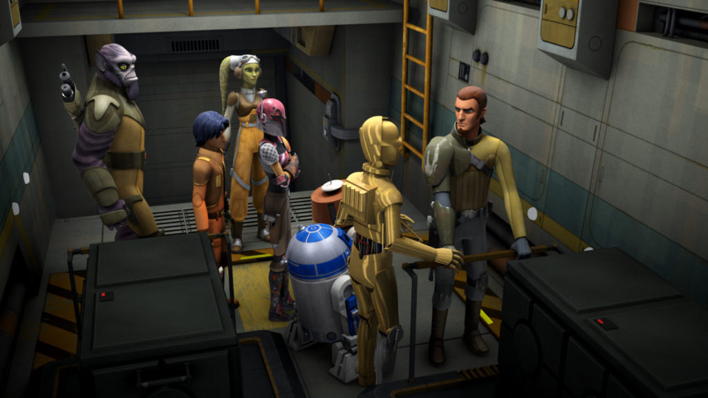 C3PO tries to convince Kanan to let them go