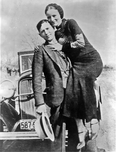 The real-life Barrow Gang, Clyde Barrow and Bonnie Parker.