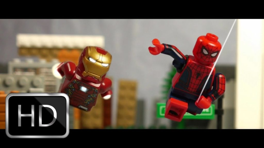 watch the spider man homecoming trailer with legos geek girl
