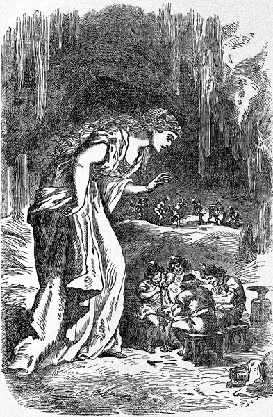 Freyja in the dwarfs' cave by Louis Huard (1891)