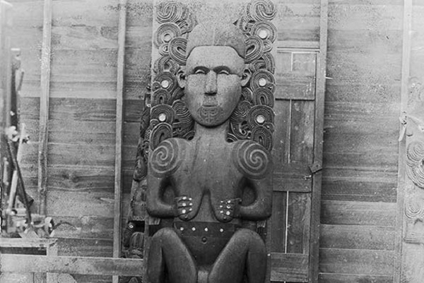 Hine-nui-te-pō Carving (artist and date unknown)