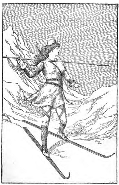 Skadi Hunting in the Mountains by H. L. M (1901)