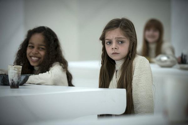 "EMERALD CITY -- ""Lions In Winter"" Episode 108 -- Pictured: (l-r) Lana Elizabeth Hobson-Borcván as Laila, Rebeka Rea as Sylive -- (Photo by: David Lukacs/NBC)"